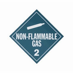 Rigid Plastic Non Flammable Placard