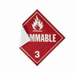 Flammable Gas Adhesive Placard
