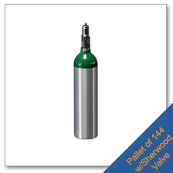 Pallet of M6 Aluminum Cylinders CGA 870 Post Valve