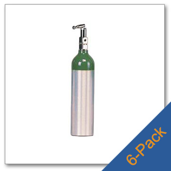 6 Pack of M6 Aluminum Cylinders with Toggle CGA 870 Post Valve