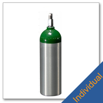 Individual Jumbo D Aluminum Cylinders with CGA 870 Post Valve
