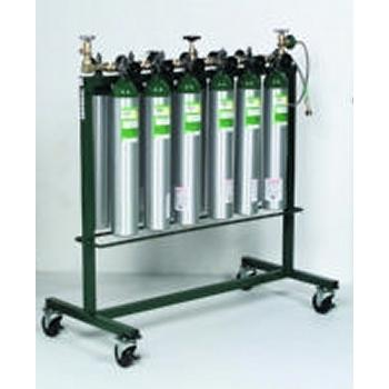 Mobile Filling Rack Holds 18 Cylinders