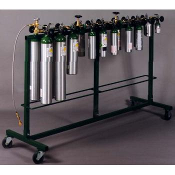 Mobile Filling Rack Holds 20 Cylinders