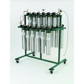 Mobile Filling Rack Holds 24 Cylinders