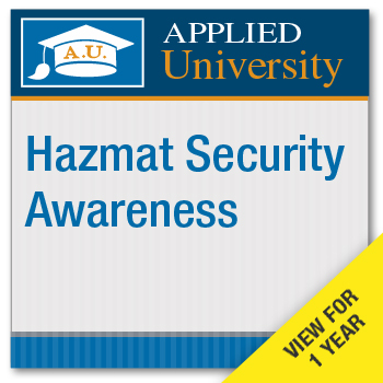 HazMat Security Awareness On Demand Class Subscription