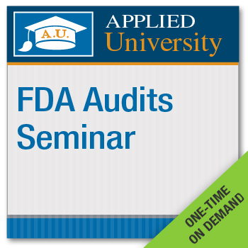 FDA Audits On Demand Class