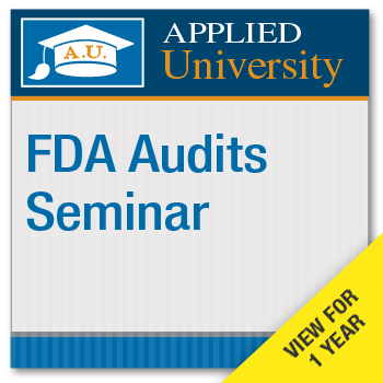 FDA Audits On Demand Class Subscription