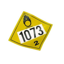 Magnetic Oxygen 1073 Placard
