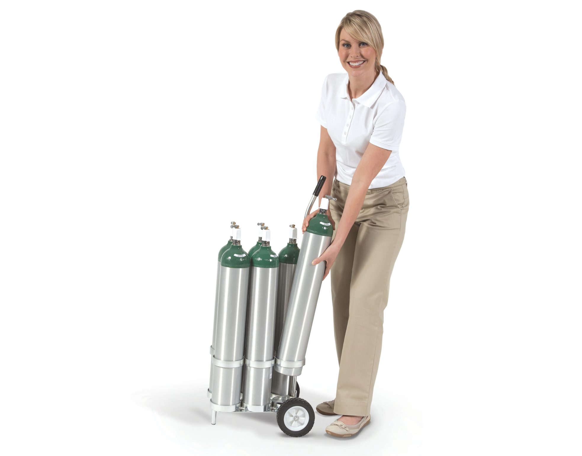 Using Carriers, Bags or Carts When Handling Cylinders