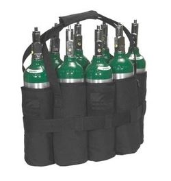 Always use carriers, bags or carts when handling cylinders