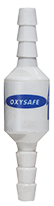 OxySafe thermal fuse designed to stop the flow of gas in cannula fires.