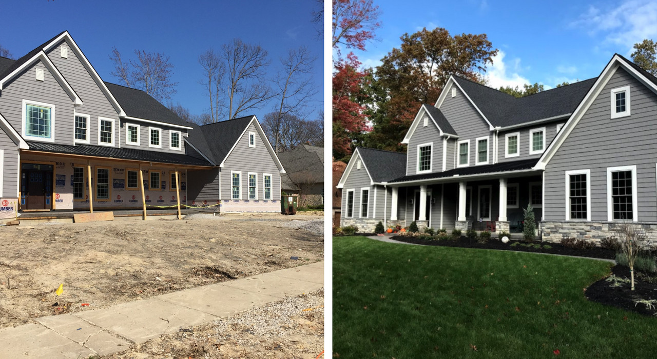 Low Maintenance Front Lawn Landscaping in Avon, Ohio
