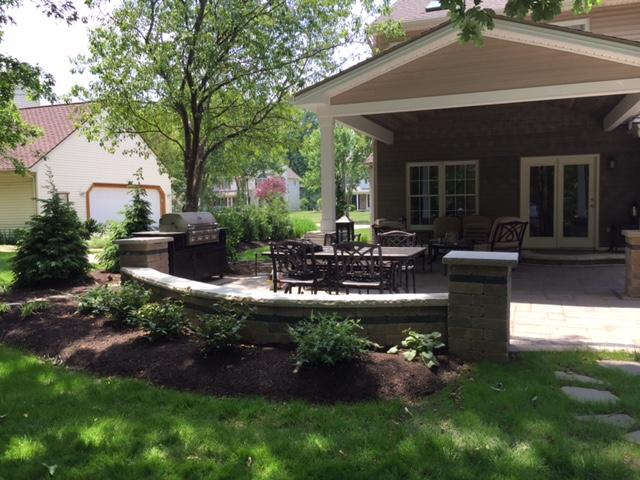 Backyard Landscape Project | Avon Landscpain