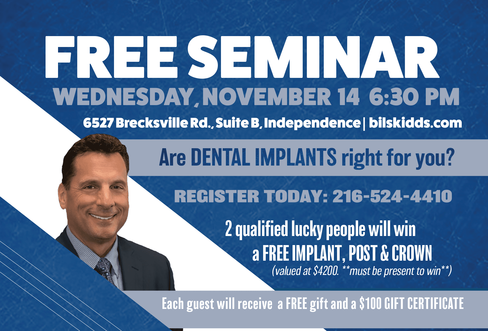 You're Invited to A Free Seminar! | Dr. Bilski