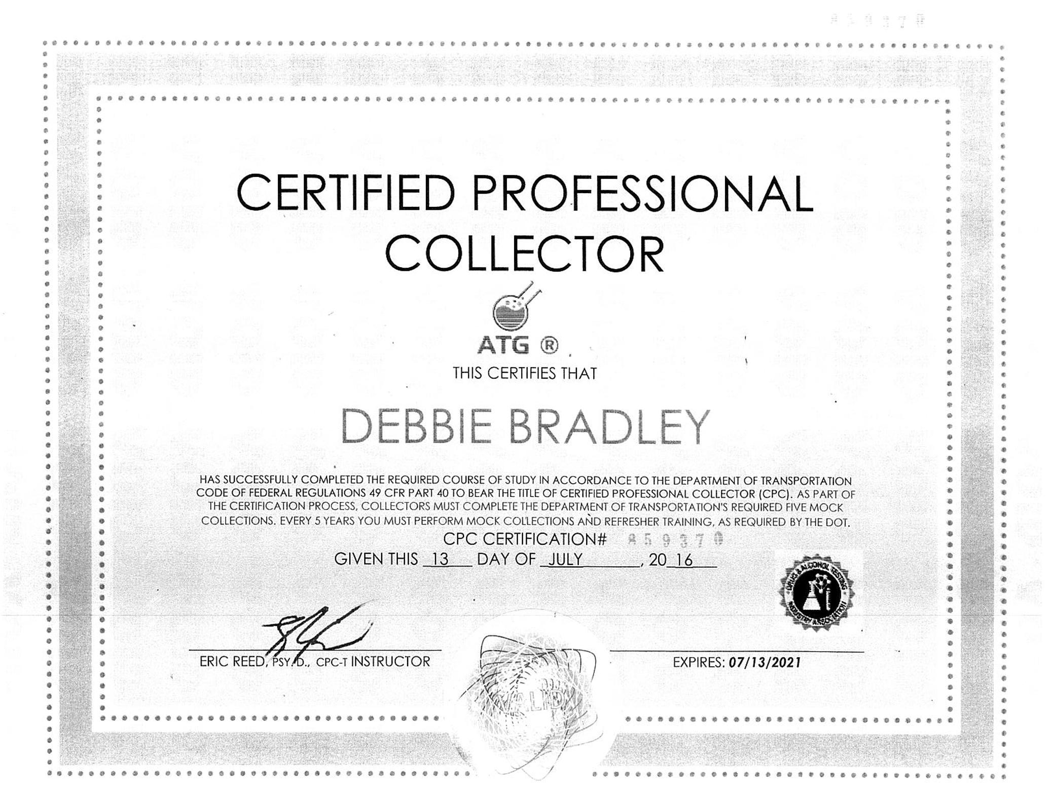 Debbie Bradley | Certified Professional Collector