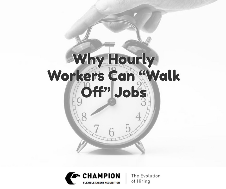 Champion informs employers about the hourly worker | Cleveland, OH | Staffing