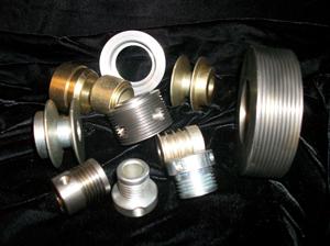 We create pullys, hubs and blanks