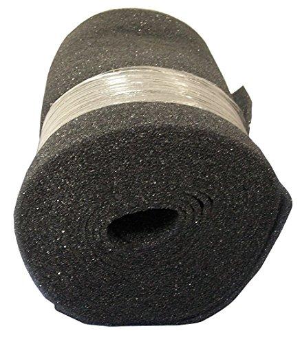 Duraflow Filtration Air Filter Foam Roll Media, 24 in x 25 ft x 1/2 in, Dark Gray