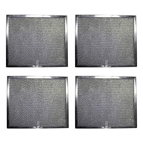 Aluminum Replacement Range Hood Filter 9 7/8 x 11 11/16 x 3/8 (4 Pack)