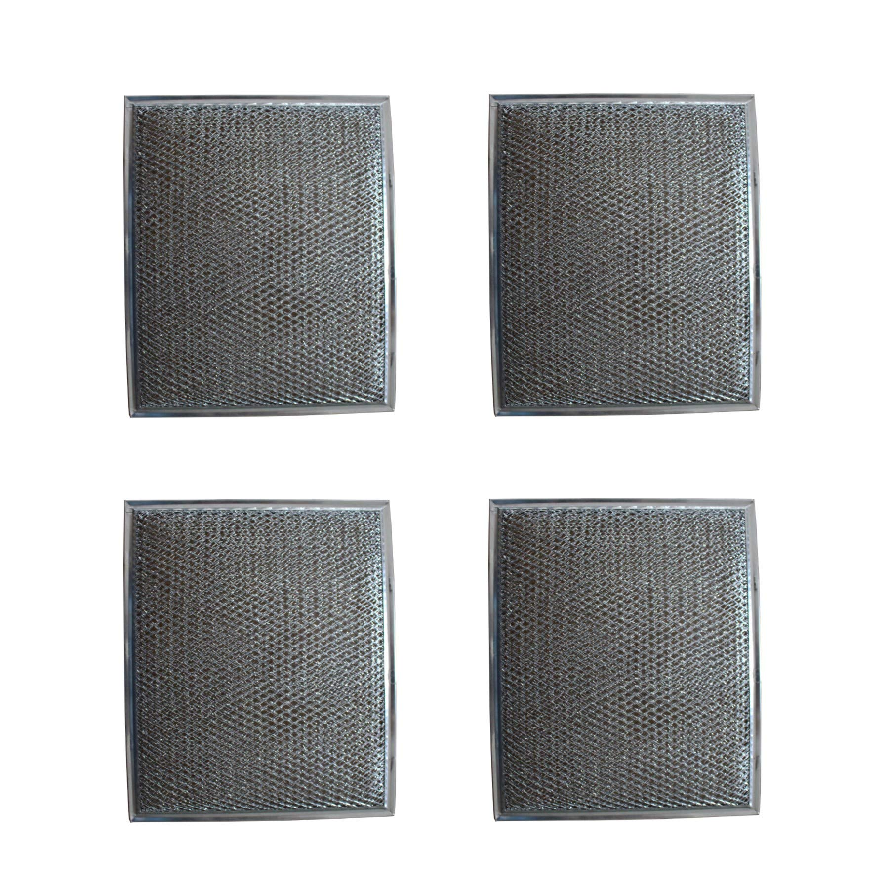 Duraflow Filtration Replacement Aluminum Filter for Many Broan / Nutone Models (4 Pack)