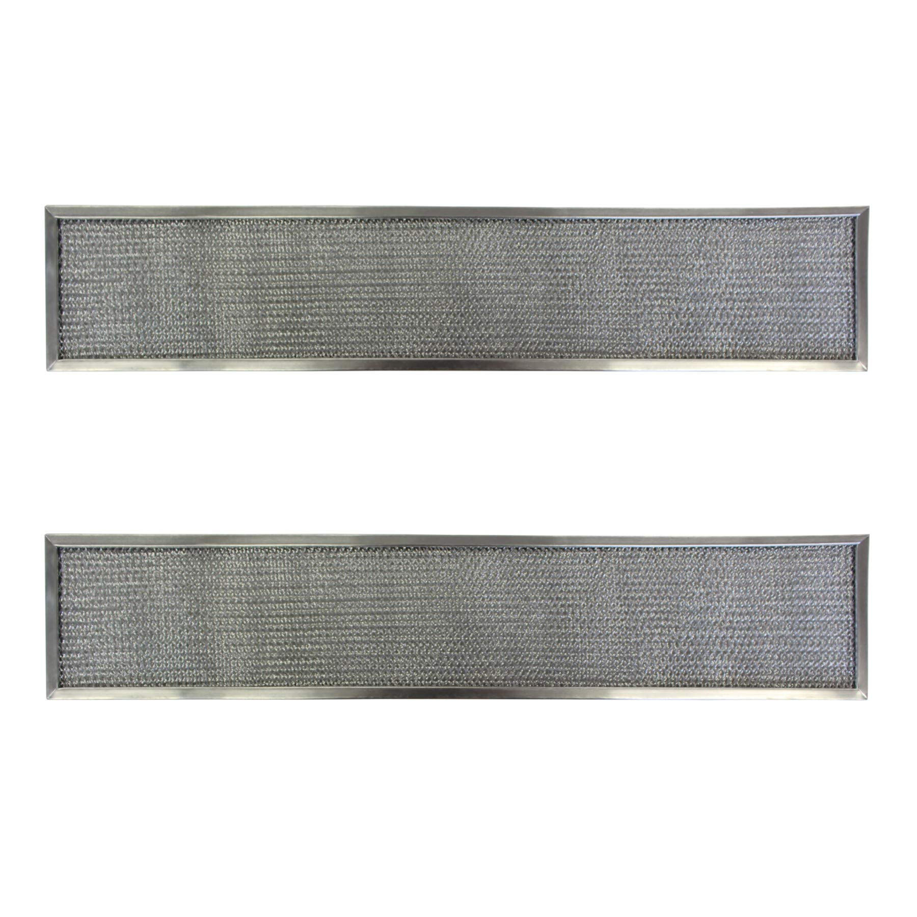 Replacement Aluminum Filters Compatible with Caloric 42021,G 8641,RHF0511  5 1/4 X 28 3/4 X 3/8 (2 P