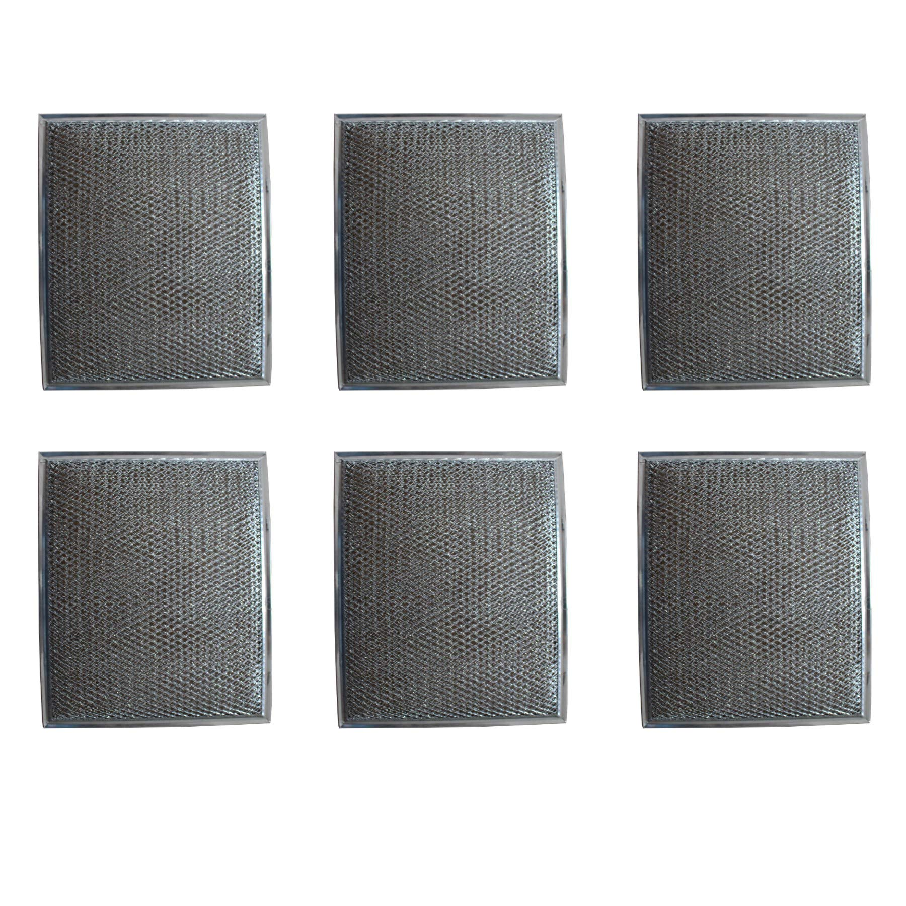Duraflow Filtration Replacement Aluminum Filter for Many Broan / Nutone Models (6 Pack)