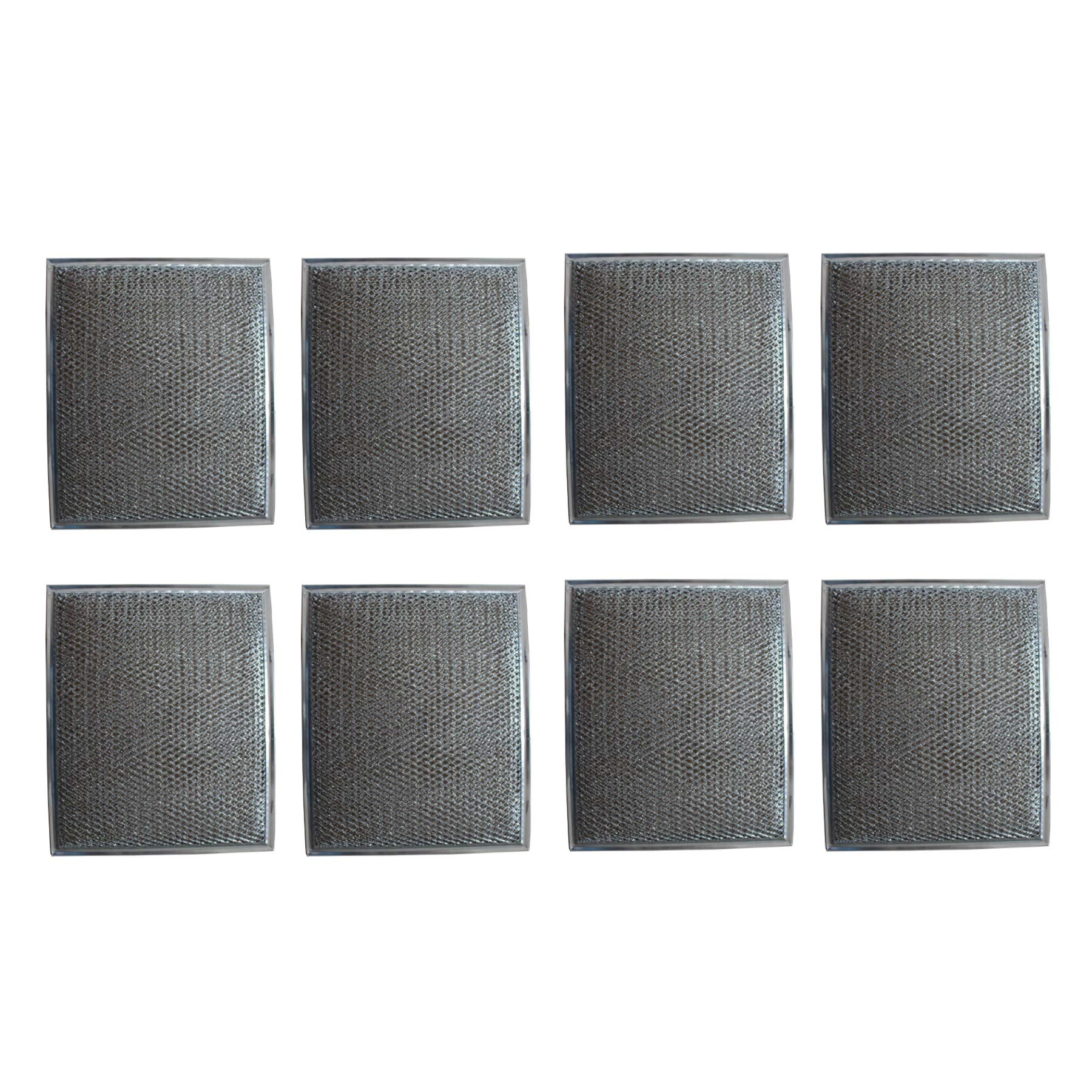 Duraflow Filtration Replacement Aluminum Filter for Many Broan / Nutone Models (8 Pack)