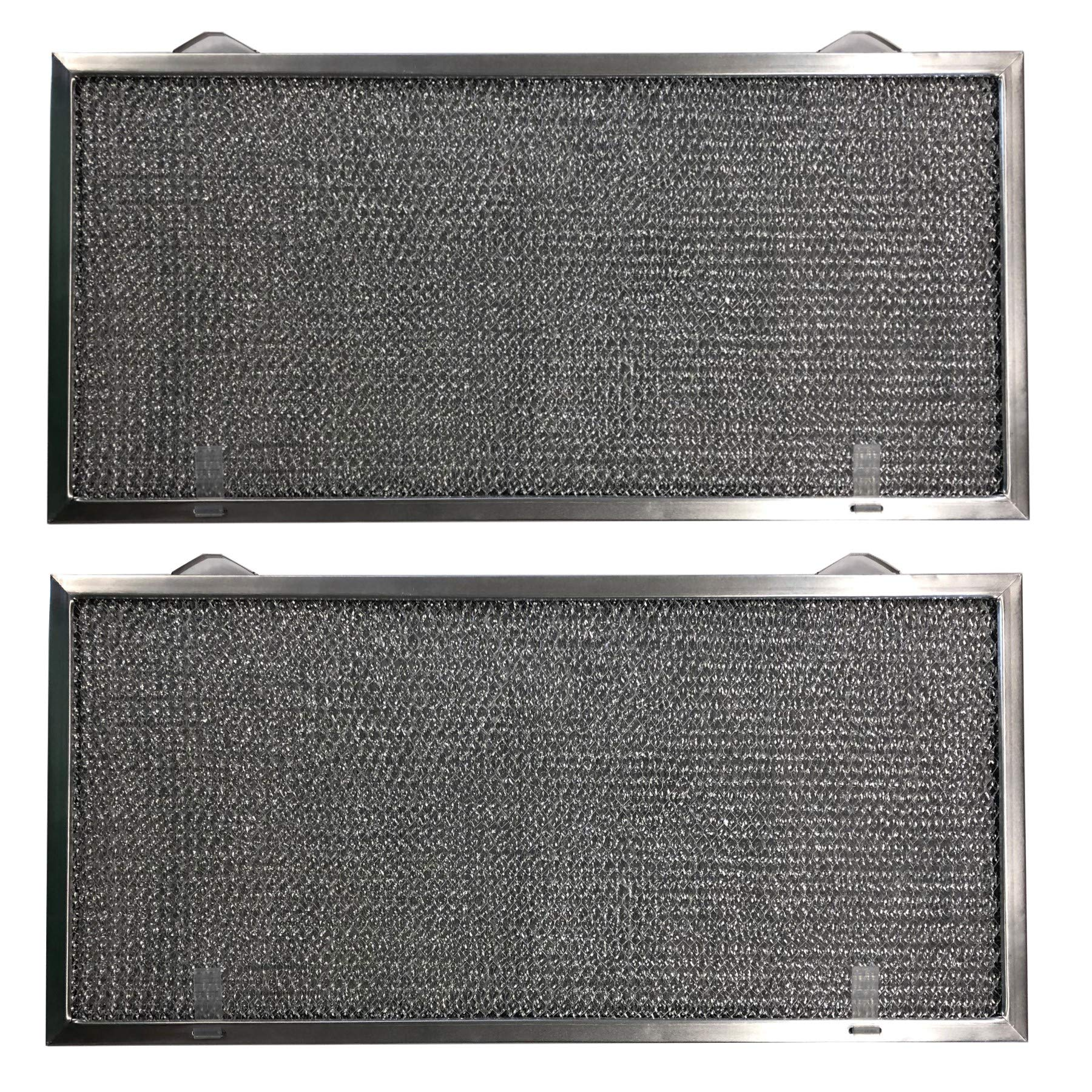 Aluminum Replacement Range Filter Compatible With GE WB13X5001  Dimensions: 8 3/4 x 18 1/8 x 3/8 2PT