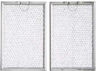 Aluminum Range Filters Compatible with Many Amana / GE/ Kitchenaid / LG / Maycor / Maytag / Whirlpool Models  4 3/4 x 13 x 3/32   2 Pack