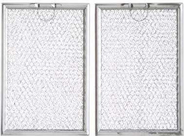 Replacement Aluminum Filters Compatible With Many Microwaves (Including WB06X10654 and WB6X10309)  5 x 7 5/8 x 3/32 (2 Pack)