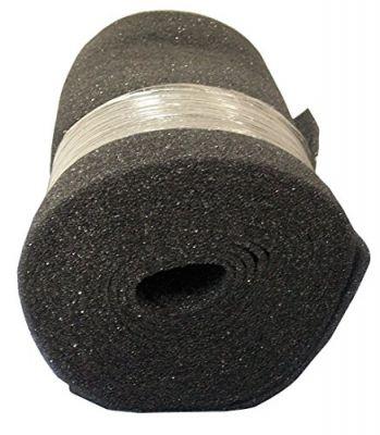 Duraflow Filtration Air Filter Foam Roll Media, 24 x 25 x 1/2 Dark Gray
