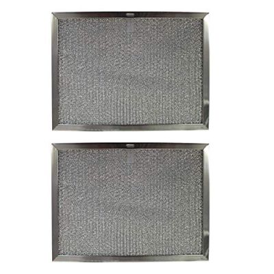 Replacement Aluminum Filters Compatible with Estate W10419114, Sears/Kenmore S99010300, Whirlpool W10419114,G 8125,  11 3/4 x 17 1/4 x 3/8 (PT LS) (2 Pack)