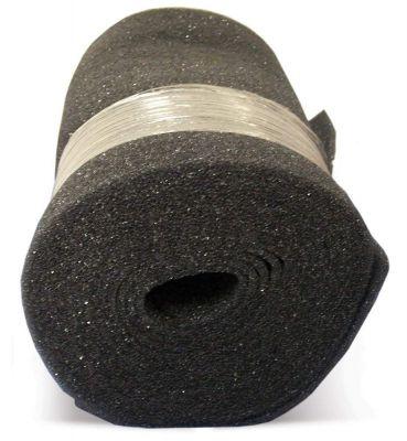 Air Filter Foam Roll Media, 18 x 25 x 1/4, Dark Gray