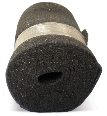 Air Filter Foam Roll Media, 30 x 25 x 1/4, Dark Gray