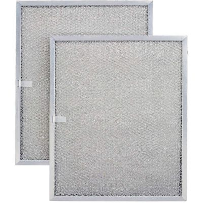 Aluminum Replacement Range Filter   Dimensions: 8 1/2 x 11 1/4 x 3/8   2 Pack