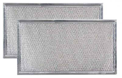 Replacement Microwave Grease Filters Compatible with Whirlpool 8206229A   5 7/8 x 10 5/8 x 3/32   2 Pack