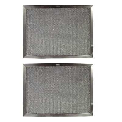 Replacement Aluminum Filters Compatible with Broan 97013159, Broan 97013160, Broan 97013162, Sears/Kenmore 97013160, Sears/Kenmore 97013162,G 86151,  6 9/16 x 17 3/8 x 3/8 (PT LS) (2 PACK) (2 Pack)