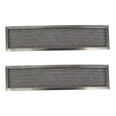 Replacement Aluminum Filters Compatible with GE WB02X6731, GE WB2X6731,G 8541,RHF0304  3 1/2 X 14 1/2 X 3/8 (2 Pack)