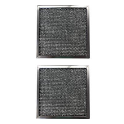 Replacement Aluminum Filters Compatible with GE WB02X1434, GE WB2X1434,G 8547,  7 5/8 X 7 5/8 X 3/8 (2 Pack)
