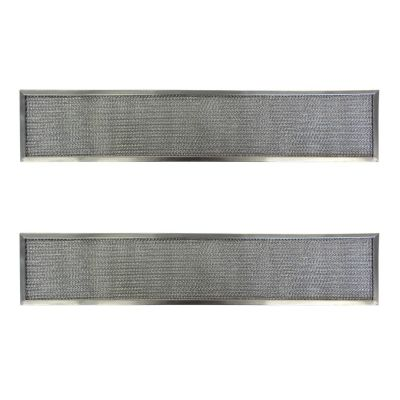Replacement Aluminum Filters Compatible with Nutone 27140,G 8553,RHF0502  5 3/16 X 26 9/16 X 3/8 (2 Pack)