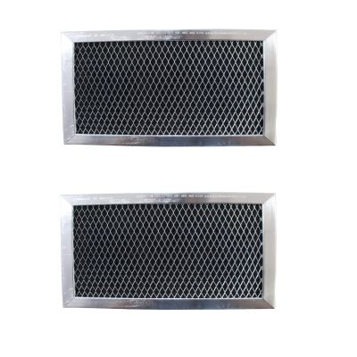 Replacement Carbon Filters compatible with GE: WB02X10733, JX81B   6 3/8 x 8 11/16 x 3/8 (2 Pack)