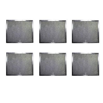 Aluminum Replacement Range Hood Filter 9 7/8 x 11 11/16 x 3/8 (6 Pack)