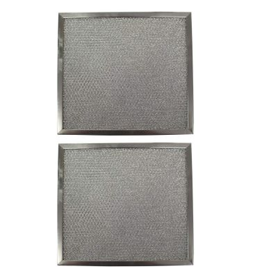 Replacement Aluminum Filters Compatible with Rangeaire 610043,GC 7511,RHP1201  12 3/8 x 12 7/16 x 3/8 (2 Pack)