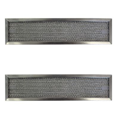 Replacement Aluminum Filters Compatible with Broan 97015841, Broan 97015843,G 8404,  4 1/2 X 12 5/8 X 3/8 2 DRING SS 2PK (2 Pack)