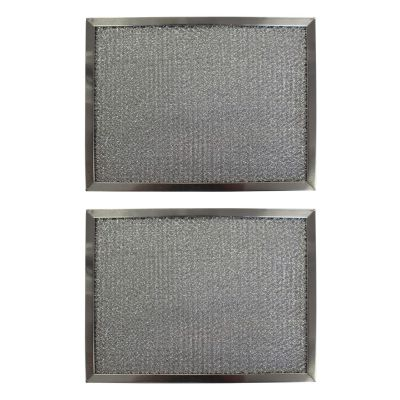 Replacement Aluminum Filters Compatible with Nutone K3595 000, Nutone K3595000, Nutone K3995, Nutone K5509000,GC 7504,RHP0805  8 7/16 x 11 1/4 x 3/8 (2 Pack)
