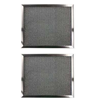 Replacement Aluminum Filters Compatible with Nutone 19555 000, Rangeaire 610002,G 8522,RHF0903  9 X 11 X 3/8 (2 Pack)