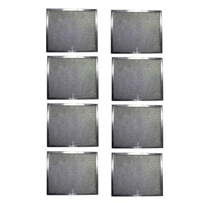 Aluminum Replacement Range Hood Filter 9 7/8 x 11 11/16 x 3/8 (8 Pack)