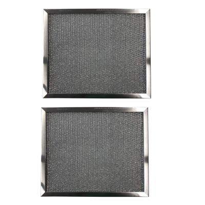 Aluminum Replacement Range Filters Compatible With Broan 99010033, S97009562, S99010033, BP10  Dimensions: 8 x 9 1/2 x 3/8   2 Pack