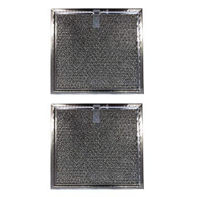 Replacement Aluminum Microwave Filters Compatible With Samsung DE63 00666A   6 3/8 X 6 7/8 X 3/32 inches   (2 Pack)