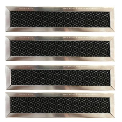 Replacement Carbon Filters compatible with GE: WB02X10943, JX81D 5230W2A003A Frigidaire: 530440665 (4 Pack)
